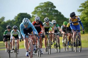 Racing at Corkagh Park women's cycling