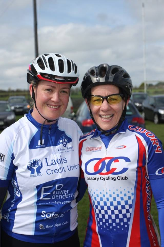 Local riders from Laois CC and Ossory CC in the women's race at Rás an Laois