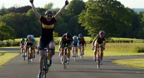 Track rider Susie Mitchell dominates the sprint at Corkagh Park as host club Clondalkin CC puts on a great spectacle
