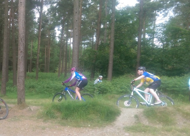 Hannah Tilly and Orla Conroy tackle the trails.