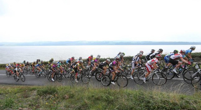 Rás na mBan riders on the scenic roads of County Clare last year
