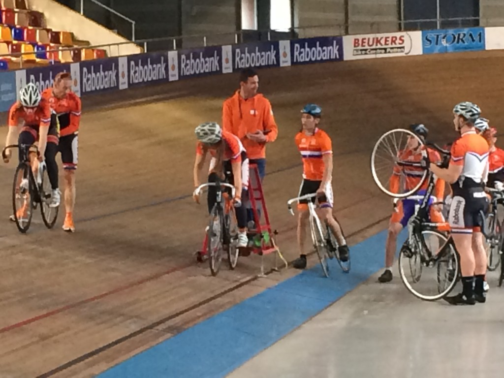 Dutch Junior Team on the track on Friday