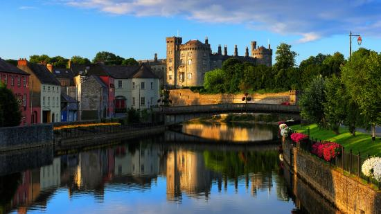View across the River Nore to Kilkenny Castle