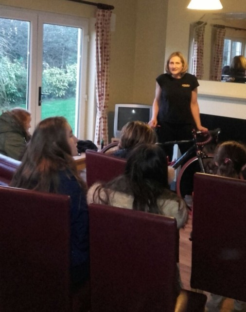 Orla Hendron holds her audience