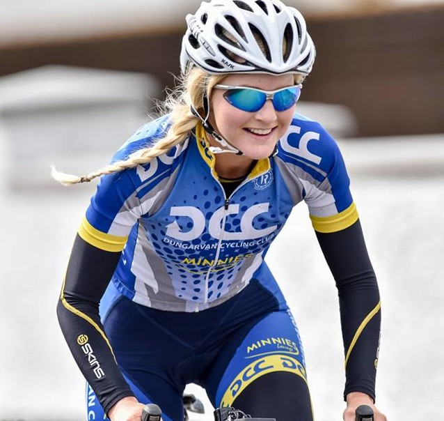 Niamh O Donovan of Dungarvan CC competing at National League Round 1. photo - Sean Rowe