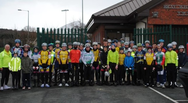 Attendees at a Cycling Leinster Training Day with Bray Wheelers