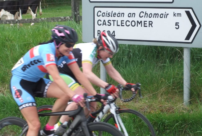Nessa Rochford and Orla Hendron looking happy with their lead!
