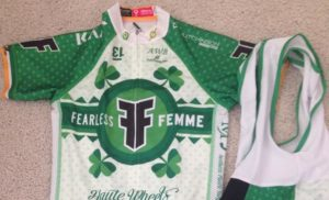 Fiona Meade's custom-made National Championship kit following her 2014 win